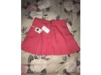 Girls forever 21 coral skater skirt