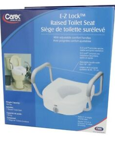 New E-Z lock raised toilet seat with arms