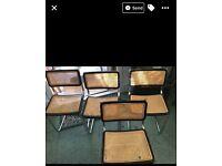 Vintage retro tubular chrome dining room chairs