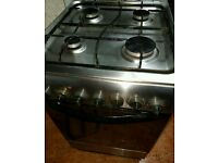 Indesit gas cooker 50 cm silver can 8