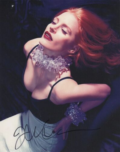Jessica Chastain Sexy Autographed Signed 8x10 Photo COA #8