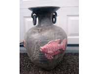 Large ceramic ornamental urn