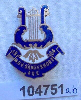 emailliertes Abzeichen M.G.V. Männergesangverein Sängerhort Aue 1904 (104751)