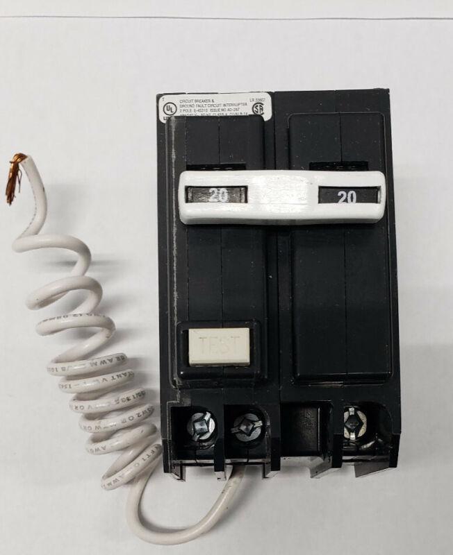 Eaton BR GFCI Circuit Breaker 2 Pole 20 Amp GFCI 120/240V GFTCB220 HSEL400924