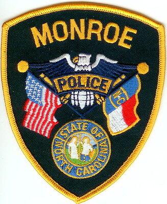 Monroe Police Patch North Carolina NC NEW