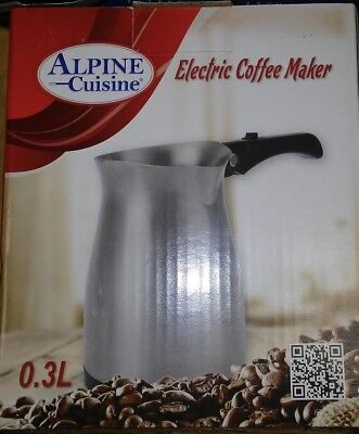Turkish Arabic Electric coffee Maker . 0.3L , 800-1000 W. Stainless Steel.