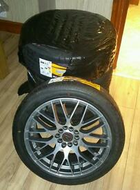 Wolfrace bayern alloys with 215-45-17 tyres BRAND NEW!