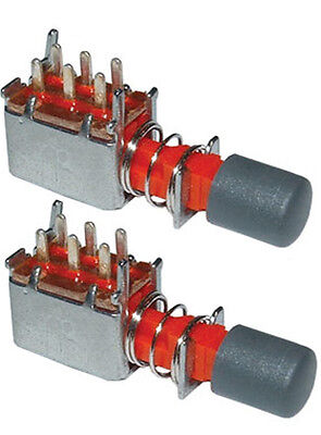 2 Pack DPDT Push Button Switch Alternate Action - PC Mount     18017