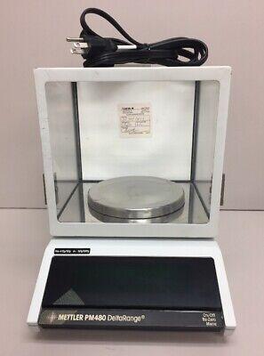 Mettler Pm480 Deltarange Digital Lab Scale W Plate Power Cord