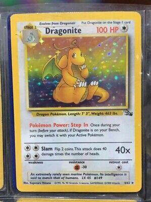 Rare Holographic Dragonite Fossil 4/62 Pokemon Card
