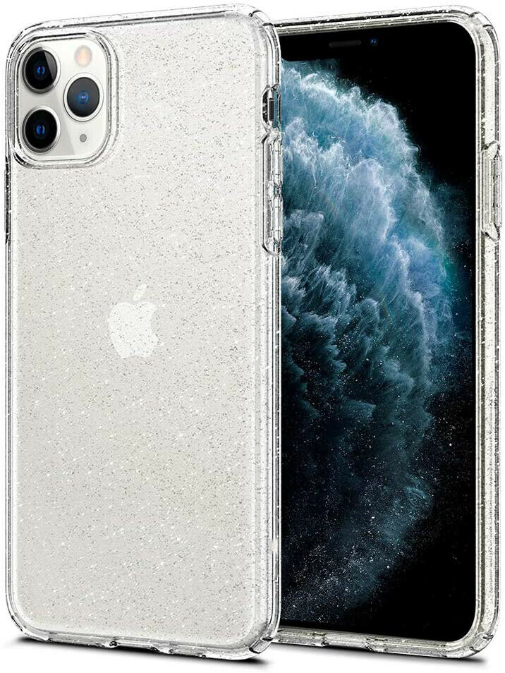 For iPhone 11 Pro Max Clear Hard Shinny Sparkling Glitter Shockproof Case Cover Cases, Covers & Skins