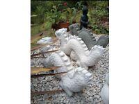 Large DRAGONS Handmade Concrete Garden Statue