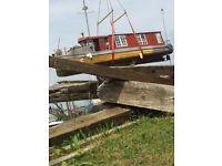 40 foot oak house boat project
