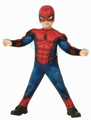 Spiderman Child Costume Toddler Size 2T Marvel Muscle Chest Halloween Dress Up