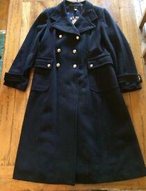 Gant Ladies Navy Caban Wool / Cashmere Mix Winter Coat XXL