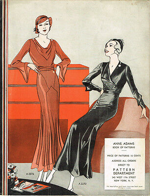 1930s Rare Anne Adams Mail Order Sewing Pattern Catalog 32 pg Ebook Copy on CD