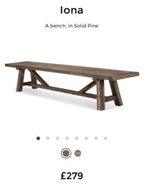 Made Iona Bench in Solid Wood RRP £279