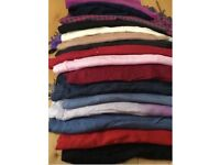 17 assorted pashmina style used scarves in good clean condition many colours