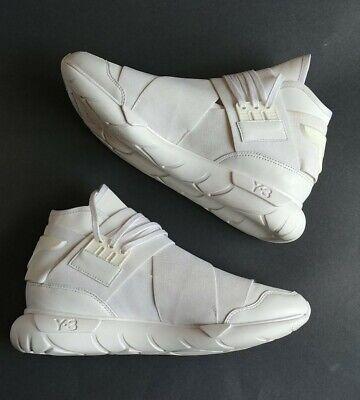 Adidas Y-3 Yohji Yamamoto Qasa High Boost White Sneaker Size 9.5 US Men's Shoes
