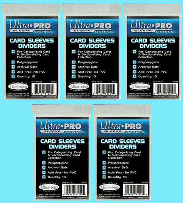 Index Card Storage (50 ULTRA PRO Trading CARD Sleeve DIVIDERS 81229 Index White Section Storage)