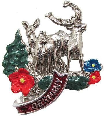 German Hat Pin: German Stags