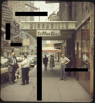 Piccadilly Cars (NEW YORK CITY 3D Stereo Slide Stereoview Street Scene Piccadilly Hotel Cars)