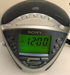 Sony Dream Machine CD-R/RW AM FM TV/weather Alarm Clock Radio Model ICF-CD843V