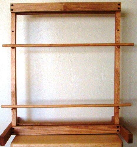 """Handmade Navajo Style Weaving Loom ~ Red Oak Hardwood Tapestry Frame ~ 24"""" x 22"""""""