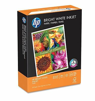 Hp Bright White Inkjet Paper 24Lb 97 Bright 8 1 2 X 11  Ream   New Item Free Shp