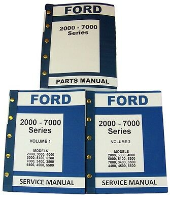Lot New Ford 2000-7000 Series Tractor Service Repair Shop Parts Manuals Catalog