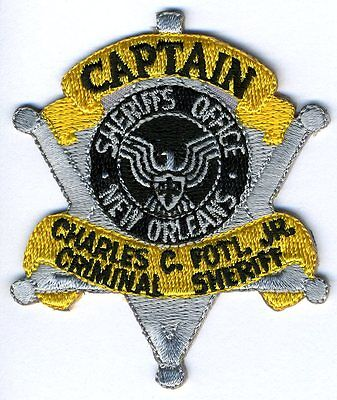 Orleans Parish Sheriff Foti Captain Hat Patch New Orleans Louisiana Police
