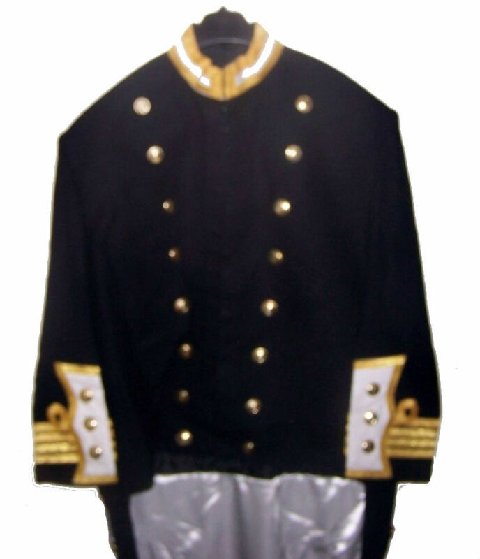 Custom Bespoke HMS Navy Officer Captain Levee Dress Uniform Coatee Jacket Tunic