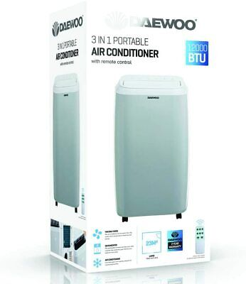 Daewoo 12000 BTU 3 In 1 Portable Air Conditioner With Remote 3...