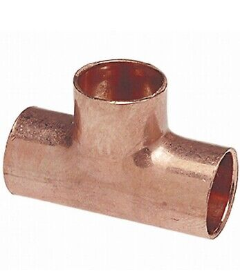 Nib Copper Tee T Sweat 12 Plumbing Fitting Everbilt Elkhart Pk Of 50 332987