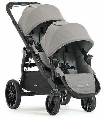 Baby Jogger Twin Stroller - Baby Jogger City Select Lux Twin Tandem Double Stroller with Second Seat Slate