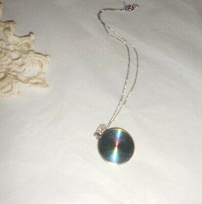 60s -70s Jewelry – Necklaces, Earrings, Rings, Bracelets OP-Art Pendant Necklace Technicolor Swirls 1960's Mod Jewelry $12.90 AT vintagedancer.com