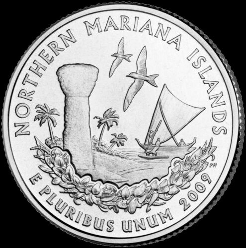 "2009 P Northern Mariana Islands Territorial Quarter ""Brilliant Uncirculated""  MP"