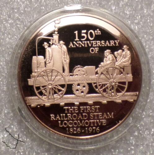 Col. John Stevens 1st Railway Train Steam Locomotive Scarce Vintage Bronze Medal