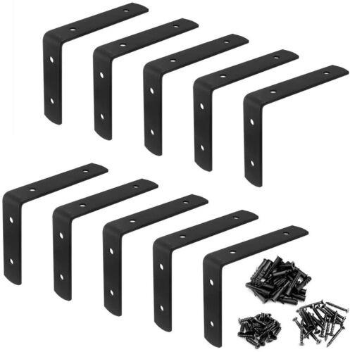 "10 Packs Corner Braces 4"" Thickness 3mm Steel Right Angle L Bracket Load 33lb"