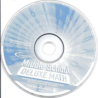 Middle School Deluxe Math CD only -Student Learning Science Projects StudyWorks! Deluxe Project Center