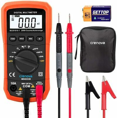 Ms8233d Digital Multimeter Ac Vc Tester Safety Backlight Lcd Display Portable