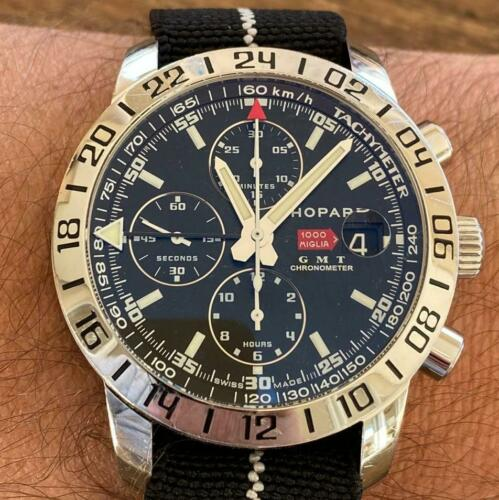 CHOPARD MILLE MIGLIA 1000 CHRONOGRAPH GMT REF. 8992 WATCH 100% GENUINE - watch picture 1