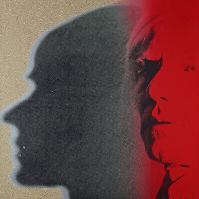 The Shadow from Myths by Andy Warhol 80cm x 80cm Canvas Art Print