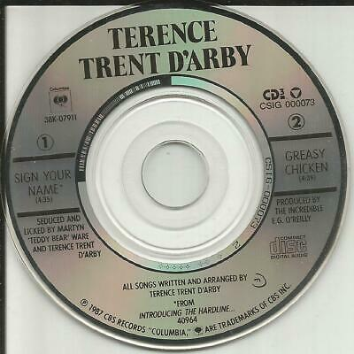TERENCE TRENT D'ARBY Sign your Name UNRELEASED Limited MINI 3 INCH CD single