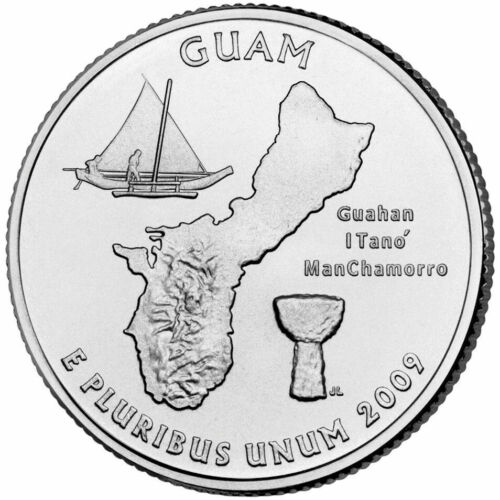 2009 P Guam Territorial Quarter, UNC. Finish Your Coin Book, #0180