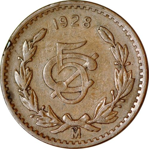 Mexico 5 Centavos, 1928 Large Date Fine  K10115