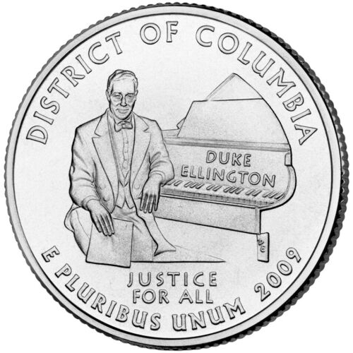 2009 P District of Columbia, Quarter, American Territories, UNC. Clad, #8154