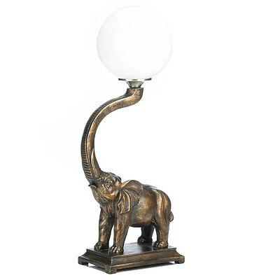 Trumpeting Elephant Globe Accent Lamp ()
