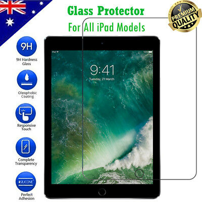 Tempered Glass Screen Protector Film for Apple iPad 2 3 4 5 Air Mini Pro New 9.7