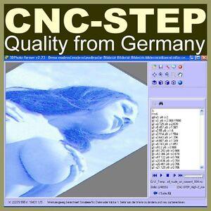 Sonderpreis !  JPGs und BMPs 3D Fotogravur Software CAM CNC Fräse Fräsmaschine